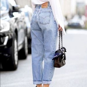 Levi's High Waisted Faded Wash Denim Mom Jeans